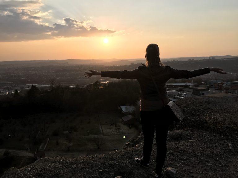 západ slunce brno